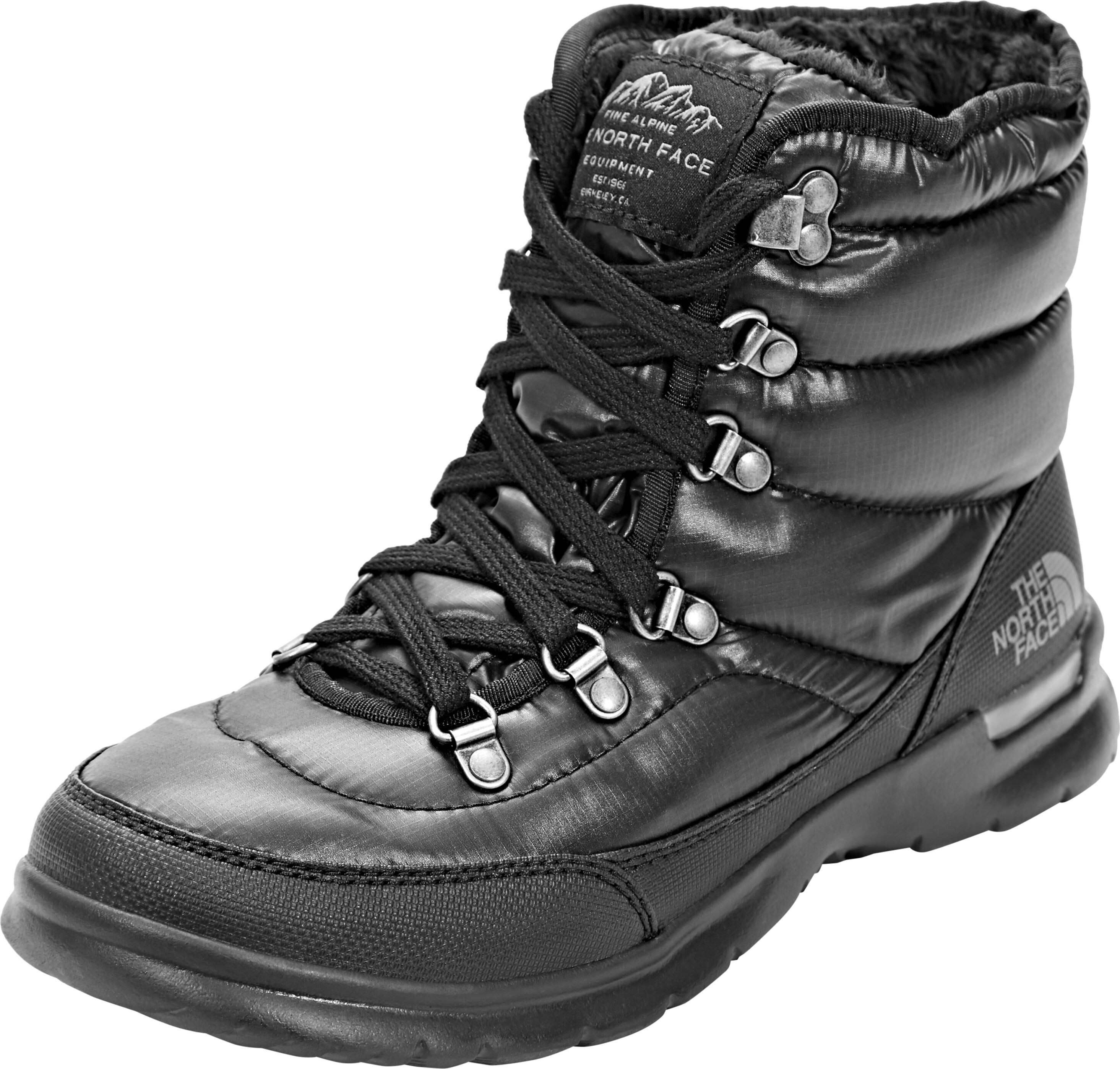 4e17bec314 The North Face Thermoball Lace II Shoes Damen shiny tnf black/iron gate grey